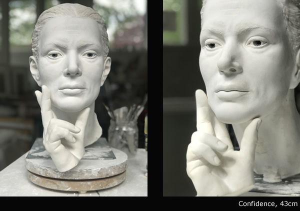 margot homan sculptures confidence