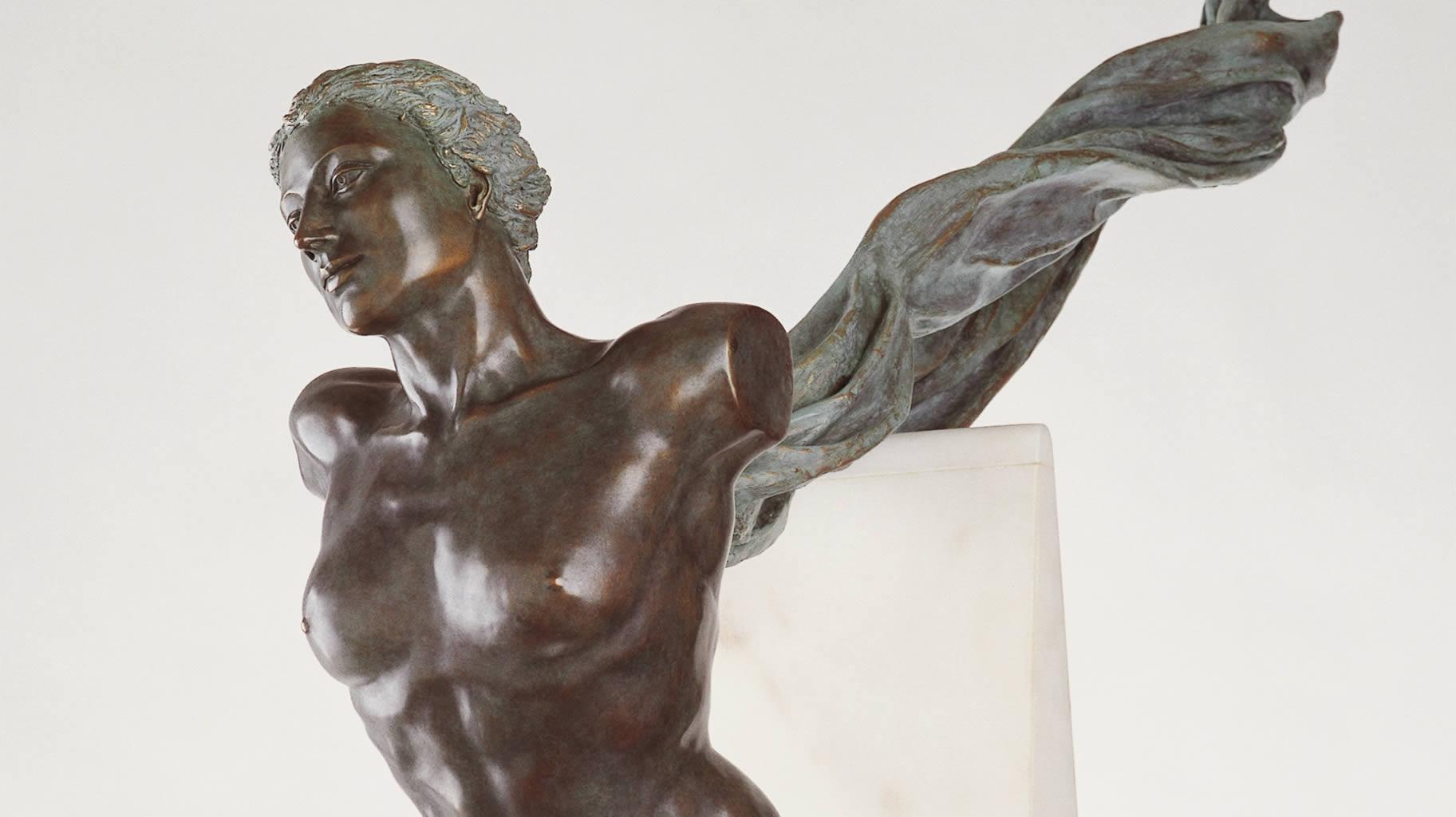 Psyche draagster van het licht brons detail